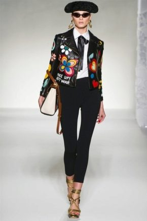 Женская кожаная куртка косуха