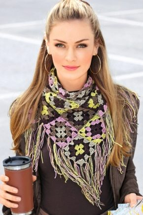 Французский шарф-косынка