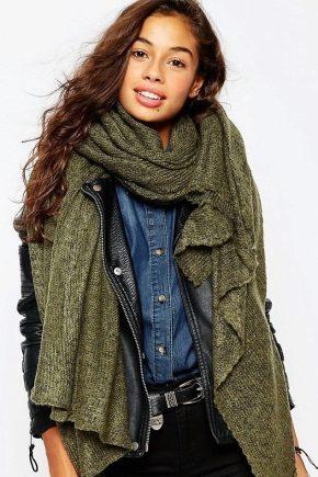 Как завязать вязаный шарф?