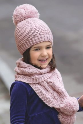 52ad0040cfb1 Шапки для девочек (87 фото): детские шапки с ушками и снуд, красивые ...