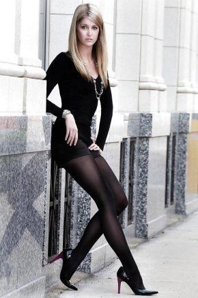 Можно ли комбинировать черные колготки и черные туфли?
