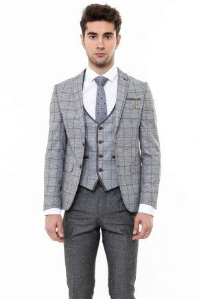 Мужской костюм тройка (67 фото)  классический и приталенный, серый ... 5cf4455d500