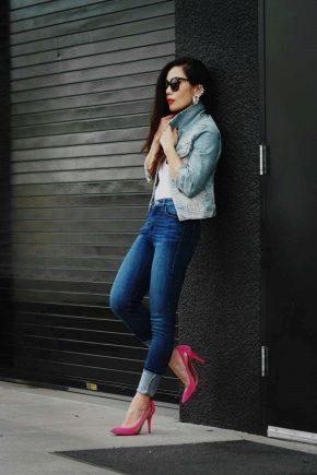 С чем носить розовые туфли?