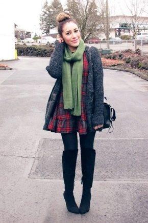 С чем носить зеленый шарф?