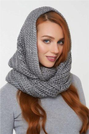 Шапка-шарф - две стильные вещи в одной