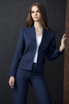 Синие и темно-синие женские костюмы