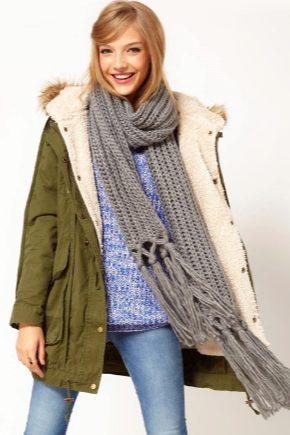 Вязаные шарфы - модные тенденции 2018 года