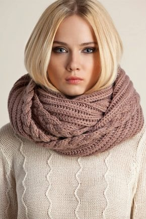 Вязаный шарф-хомут (снуд или шарф-труба)