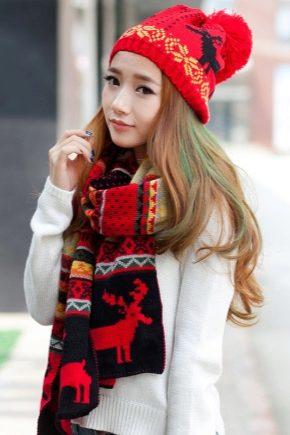 Женские шерстяные шарфы