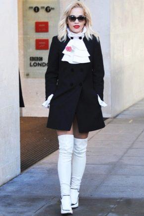 С чем носить белые ботфорты?
