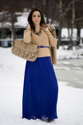 Сочетания синего цвета в одежде