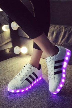 Светящиеся кроссовки - новое поколение модной обуви