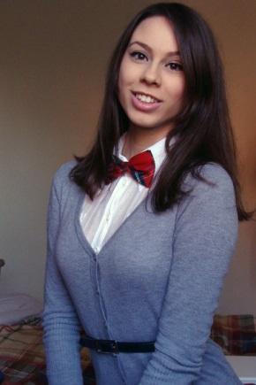 Красная бабочка-галстук