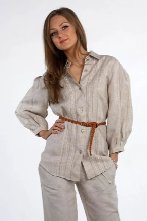 Женская одежда из льна (56 фото): модели марок Русский лен и Дамский каприз, Мокуша и Елецкие узоры