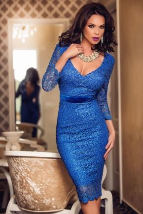 Бижутерия синему платью фото