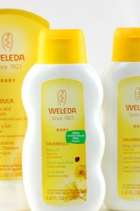 Масло для массажа животика младенцев Weleda