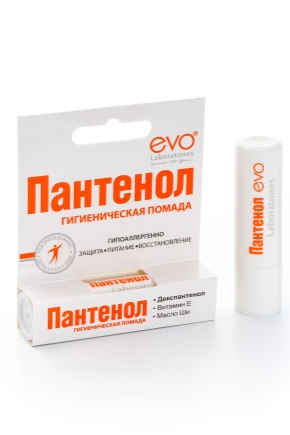 Гигиеническая помада; Пантенол: состав продукции для губ, Evo, отзывы