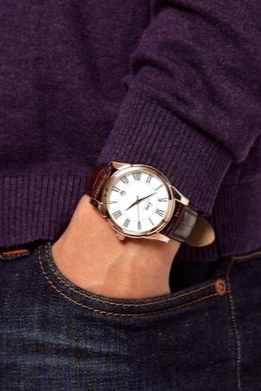 Кожаный ремень для часов