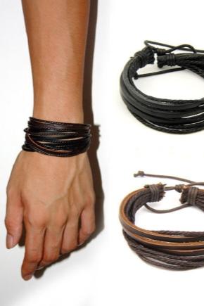 Мужские кожаные браслеты