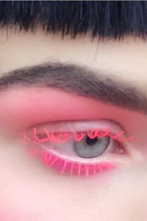 Розовая тушь