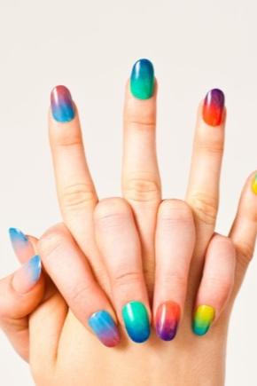 Сочетание цветов лака для ногтей
