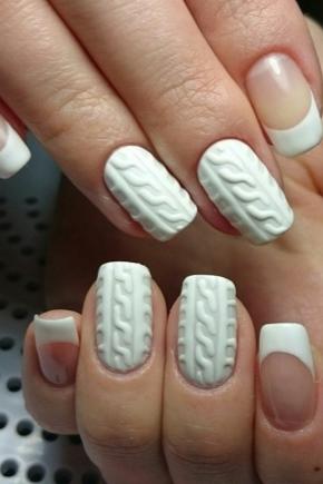 Вязаный дизайн ногтей как делать