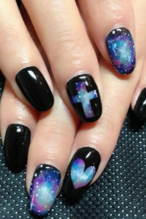 Маникюр; космос; (24 фото): как сделать космический и галактический дизайн ногтей, поэтапное руководство создания галактики, идеи и новинки