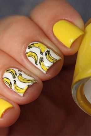 Маникюр с бананами
