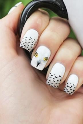 Маникюр с совами (20 фото): идеи дизайна для ногтей