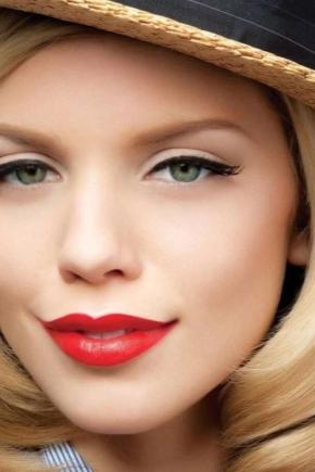 Особенности макияжа с помадой разного цвета
