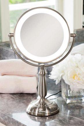 Настольное зеркало с подсветкой: плюсы и минусы