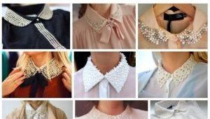 Воротник рубашки: виды и варианты украшения