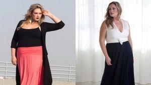 Длинные юбки для пышнотелых красоток