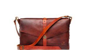 Кожаные сумки через плечо