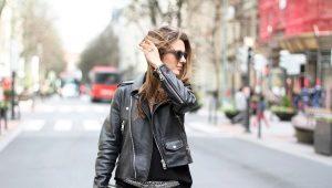 Кожаные женские весенние куртки 2017