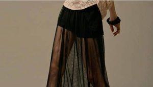 Прозрачная юбка: особенности и с чем носить?