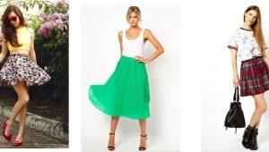 С чем носить юбку полусолнце – стильные образы