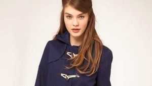 Женская куртка с застежкой дафлкот