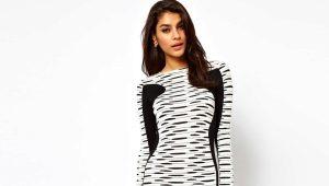 Черно-белое платье - модный тренд сезона