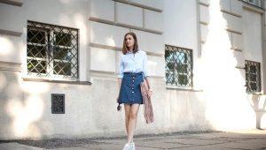 Джинсовые юбки 2019 года