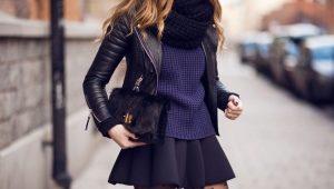 Как правильно носить свитер и юбку?