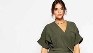 Платье-халат большого размера