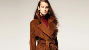 С чем носить коричневое пальто?