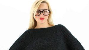 С чем носить короткий свитер?