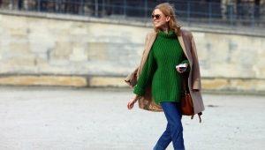 С чем носить зеленый свитер?