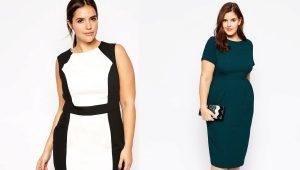 Стильные модели платьев для полных женщин