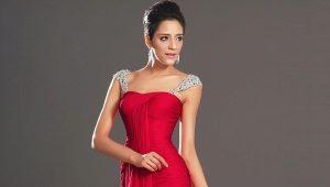 Платье на выпускной красного цвета