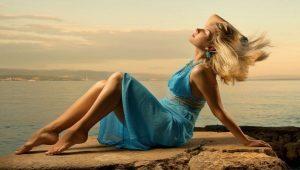 Бирюзовое платье: модели и с чем носить?