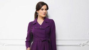 Фиолетовое пальто: кому пойдет и с чем носить?