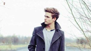 Короткое мужское пальто